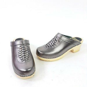 Sven Swedish Clogs Wright Metallic Size 39
